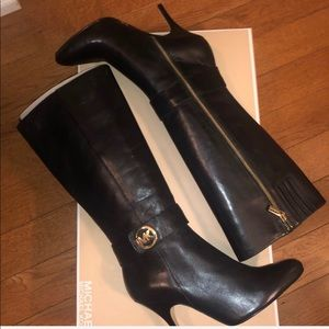 Michael Kors knee high leather boot